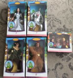 Barbie Collector Pink Label Wizard Of Oz Lot Of 5 Dorothy,lion,tin,man,scarecr