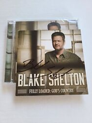 Blake Shelton Hand Signed Cd Fully Loaded God's Country Autographed Rare