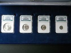 1922 Binion 4-coin Collection Blue Type Set Ngc