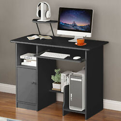 Computer Desk Table Workstation Home Office Student Dorm Laptop Study w Shelf op