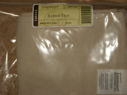 Longaberger Paper Letter Tray Basket Liner Flax Tan Mint In Bag Free Shipping