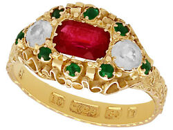 Paste And 15carat Yellow Gold Dress Ring - Antique Victorian 1873
