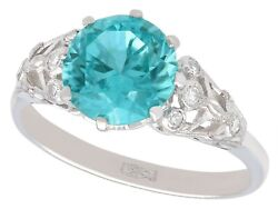 Antique 3.45ct Zircon And 18ct White Gold Dress Ring Circa 1920