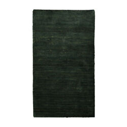 Hand Knotted Silk And Wool 6and039x9and039 Area Rug Solid Dark Green Bbh Homes Bblsm111
