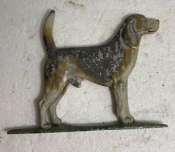 Old Dog Figural Topper Mailbox Gate Weathervane Sign Double Sided Detailed
