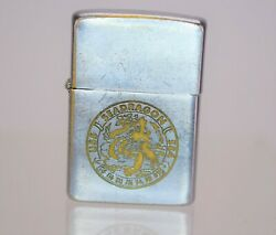 Vintage 1950and039s Uss Seadragon Zippo Lighter - Engraving Intact Color Worn Away