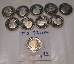 Susan B Anthony 1979 Proof Dollar Type 1 10 Coins San Francisco Mint