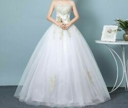 Sexy Strapless Wedding Dresses Patterns Strapless Tulle Pearls Beading Appliques