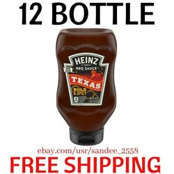 Heinz Texas Style Bold And Spicy Bbq Sauce, 19.5 Oz Bottle