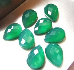 Best Natural Green Onyx Pear Checker Cut 8x12 Mm To 18x25 Mm Loose Gemstone