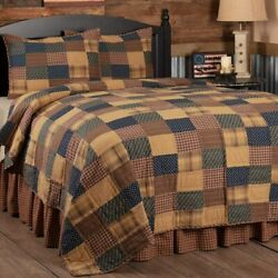 Vhc Brands Patriotic Patch King Quilt 110wx97l Country Patchwork Design