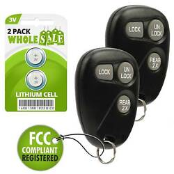 2 Replacement For 1999 2000 2001 2002 2003 2004 Chevrolet Tracker Key Fob Alarm