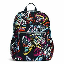 Vera Bradley Womenand039s Signature Cotton Campus Backpack Butterfly Flutter One