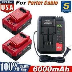 6.0ah Lithium 20 Volt Battery Or Charger For Porter Cable 20v Max Pcc680l Us