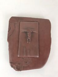 Contemporary Art Hand Crafted Brown Stone Japanese Inkwell