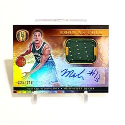 Malcolm Brogdon 2016-17 Rc Rookie Auto Jersey Gold Standard Good As Gold /149