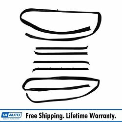 1a Window Sweep And Run Channel Weatherstrip Seal Kit 6pc For 81-91 Pickup Truck