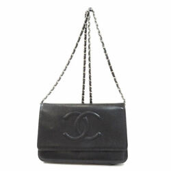 48654 Long Wallet With Coin Pocket Chain Wallet Timeless Cc Caviar...