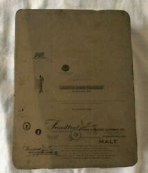 Lithograph Stone-schlitz Froedtert Grain And Malting Co+ 2 Other Wi Businesses