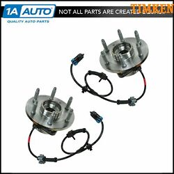 Timken 4x4 4wd Front Hub And Bearing Pair Set For Chevy Pickup Truck Tahoe