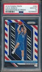 2018 Panini Prizm Red White And Blue 280 Luka Doncic Psa 10