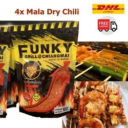 4x 100 G Mala Chili Hot Spicy Seasoning Chinese Barbecue Soup Grill Street Food