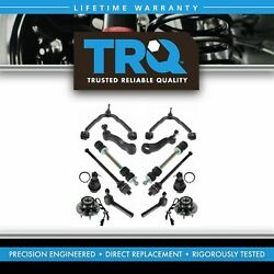 Trq Front Control Arm Ball Joint Sway Bar Tie Rod Hub Steering Suspension Kit