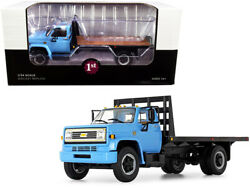 Chevrolet C65 Flatbed Truck Blue And Black 1/34 Diecast Model First Gear 10-4217