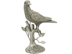 Mexican Sterling Silver Bird Table Ornament - Vintage Circa 1955