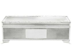 Post - 1940 Sterling Silver Cigarette/jewellery Box By Harman Brothers