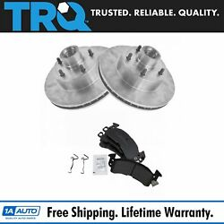 Trq Front Disc Brake Rotors And Pads Kit For Buick Cadillac Chevy Gmc Olds Pontiac