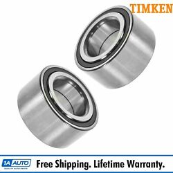 Front Wheel Hub Bearings Left/right Pair Set For Civic Integra Del Sol W/ Abs
