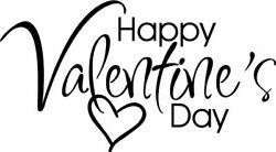 Happy Valentines Day Decal For Car Windows Crafts Mugs Pick Color And Size