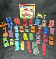 Lot Of Vintage Cast Iron Toy Cars Mige Tootsie Antique Sport Cars Tanker Trucks
