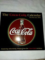 Vintage 2001 Coca-cola Calendar Featuring Ad Images From Coca Cola Archives