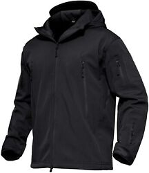 Magcomsen Menand039s Hooded Tactical Jacket Water Resistant Soft Shell Snow Ski Winte