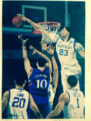 Rick Rush Kentucky Wildcats Basketball Signed Numbered Limited Ed Serigraph