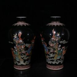 Chinese Vintage Porcelain Handmade Exquisite Vase A Pair 60481