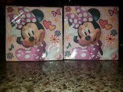 Minnie Mouse Disney Lunch Napkins 32 Total Birthday Party Supplies Pink