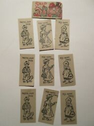 Rare Instructions Card With 9 Cards Made Germany Snap Game Vintage