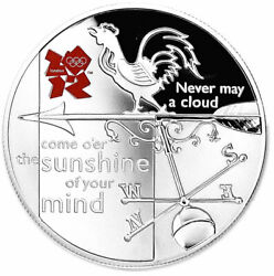Great Britain Uk Andpound5 2010 Silver Proof Never May A Cloud Come Oand039er - Weather Vane
