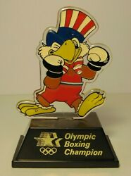 Vintage 1984 Los Angeles Summer Olympics Boxing Champion Trophy Pernell Whitaker