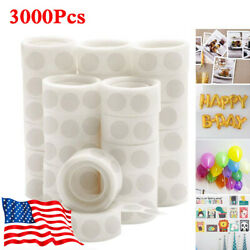 3000Pcs Point Dots Balloon Glue Removable Self Adhesive Point Tapes 30 Rolls Hot