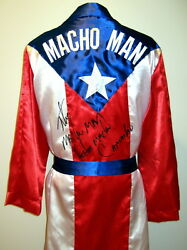Hector Macho Camacho Autographed Signed Puerto Rico Boxing Robe Asi Proof