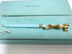 Ballpoint Pen Ribbon Gold Color Clip With Box And Cloth Bag Yi01