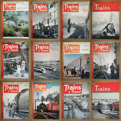 Magazine - Trains And Travel Vintage Usa Full Contents Index Shown - Various