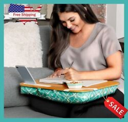 Lap Desk Cushioned Pillow With Storage Laptop Mouse Working From Home Homeschool