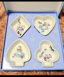 Afternoon Tea Alice In Wonderland Small Plate Set Playing Cards Disney