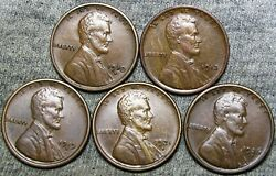 1910-s 1913 1919-s 1921-s 1926-s Lincoln Cent Wheat Penny Stunning Lot --- J093