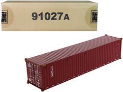 40and039 Dry Goods Sea Container Tex Burgundy 1/50 Model By Diecast Masters 91027 A